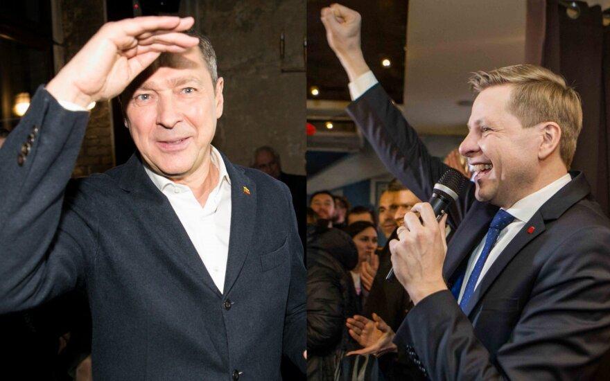 Šimašius skelbia pergalę Vilniaus mero rinkimuose, Zuokas pripažįsta pralaimėjimą