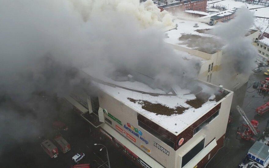 Ugniagesiai gelbėtojai pataria, kaip elgtis kilus gaisrui prekybos centre