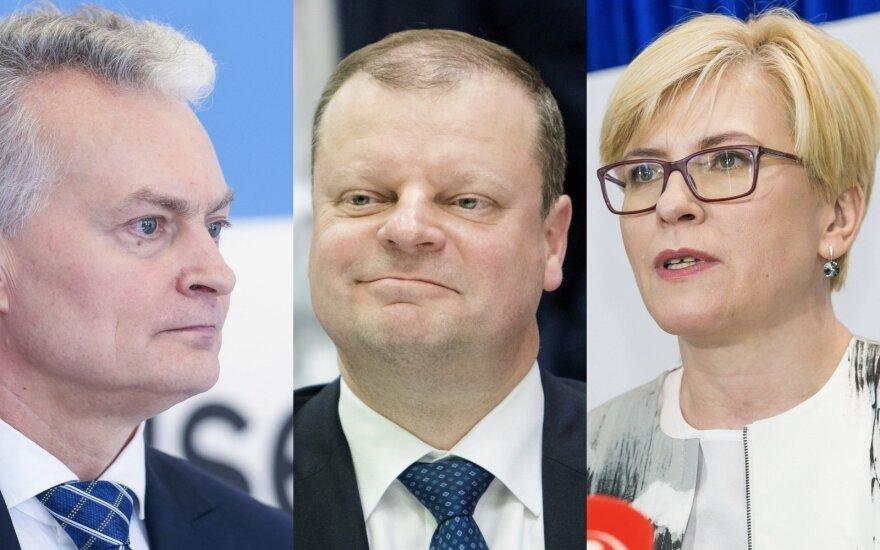 Gitanas Nausėda, Saulius Skvernelis, Ingrida Šimonytė