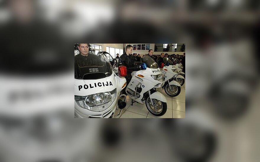 Policijos eskorto motociklai