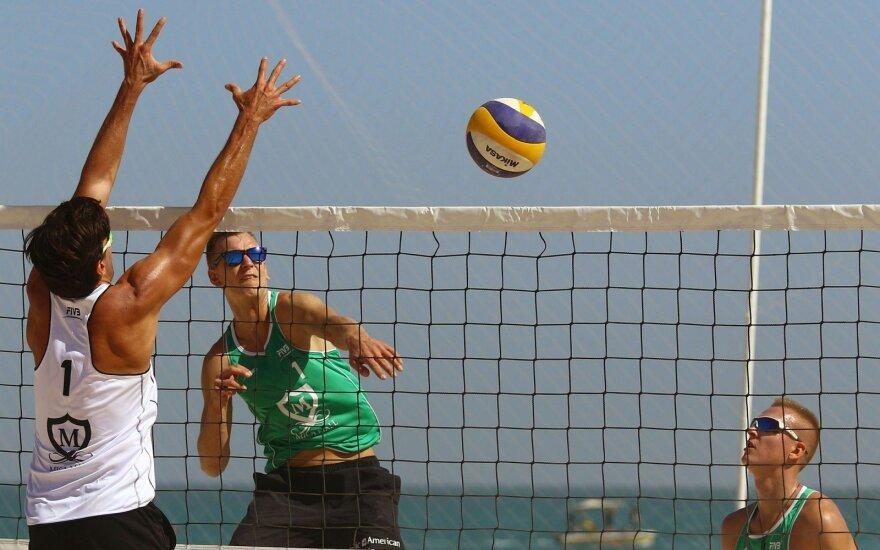 Paplūdimio tinklininkai Rumševičius ir LKaždailis Irane iškopė į pagrindines varžybas