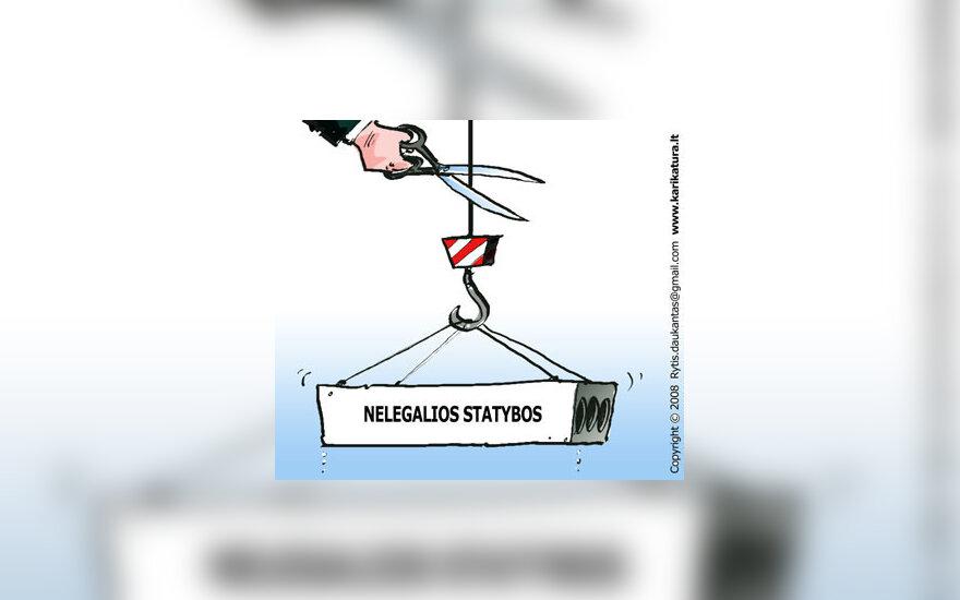 Nelegalios statybos, karikatūra