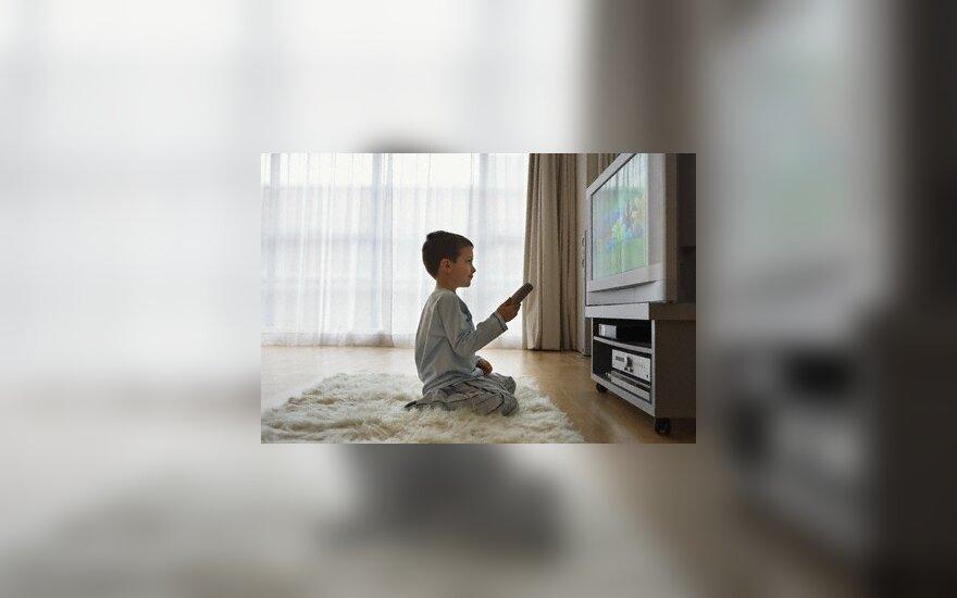 Kai vaikus auklėja televizorius