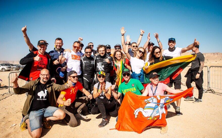 Benediktas Vanagas ir Filipe Palmeiro 2020 m. Dakaro finiše