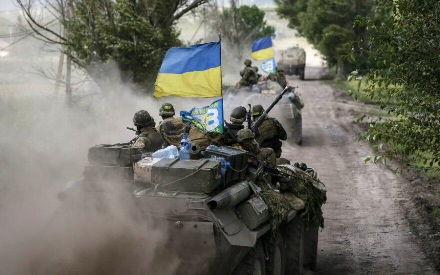 Ukrainoje pasieniečiai užkerta kelią teroristams