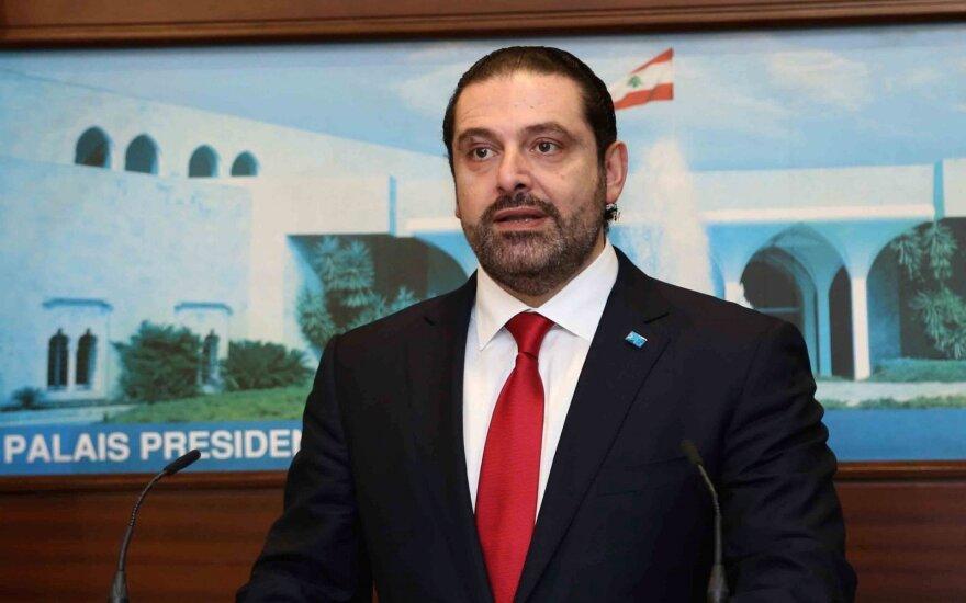 Libano premjeras Saadas Hariri