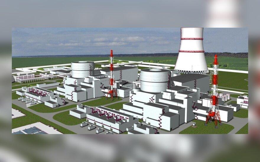Baltijos atominės elektrinės Kaliningrade maketas