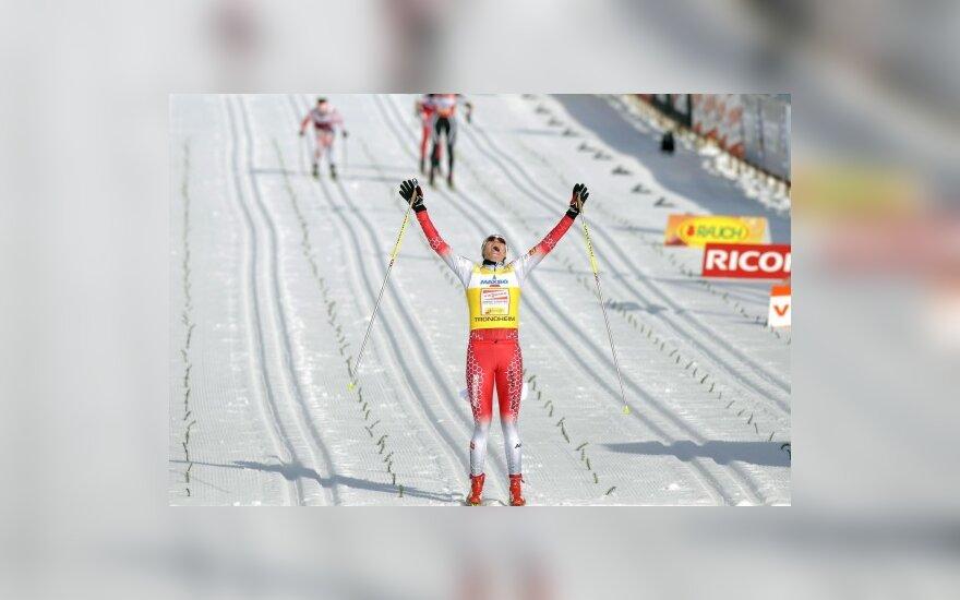 I.Terentjeva pasaulio taurės slidinėjimo etapo varžybose finišavo 59-ta