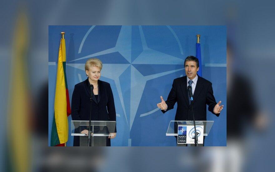 Dalia Grybauskaitė ir Andersas Foghas Rasmussenas