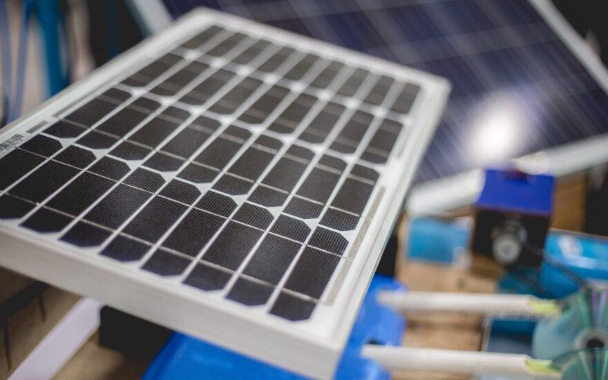 Fotovoltiniai elementai sudaro saulės modulius