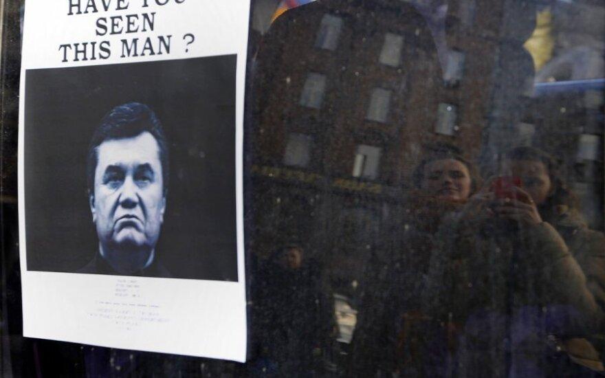 """Rusija neišduos Ukrainai """"teisėto prezidento"""" V. Janukovyčiaus"""