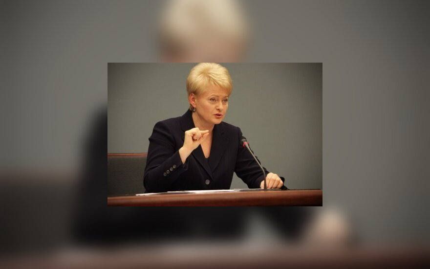 Lietuviai D.Grybauskaitės veikla patenkinti