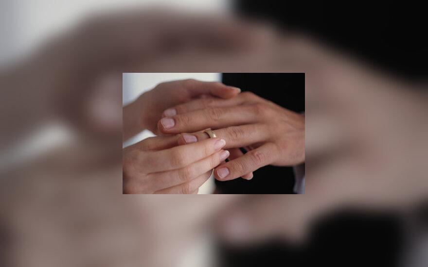 Vestuvės, vedybos, žiedas, pora