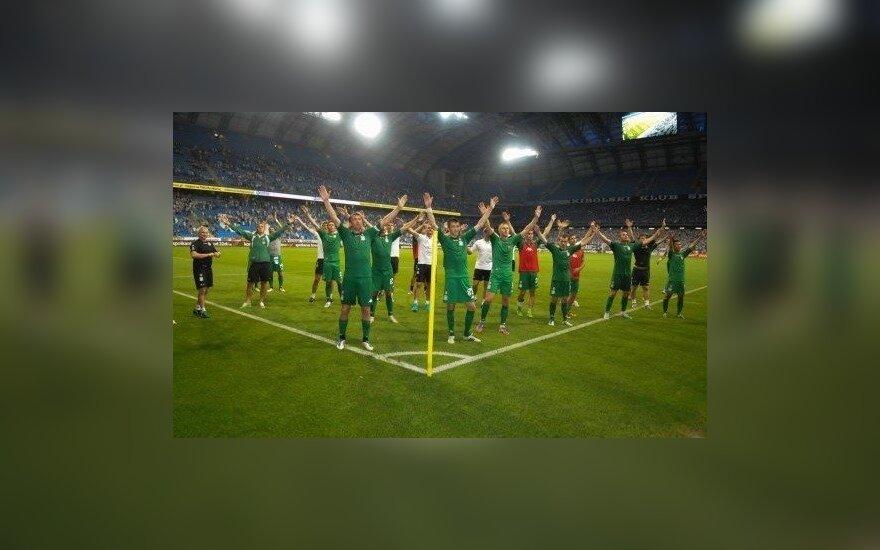 """""""Žalgirio"""" futbolininkai triumfuoja peržengę """"Lech"""" barjerą"""