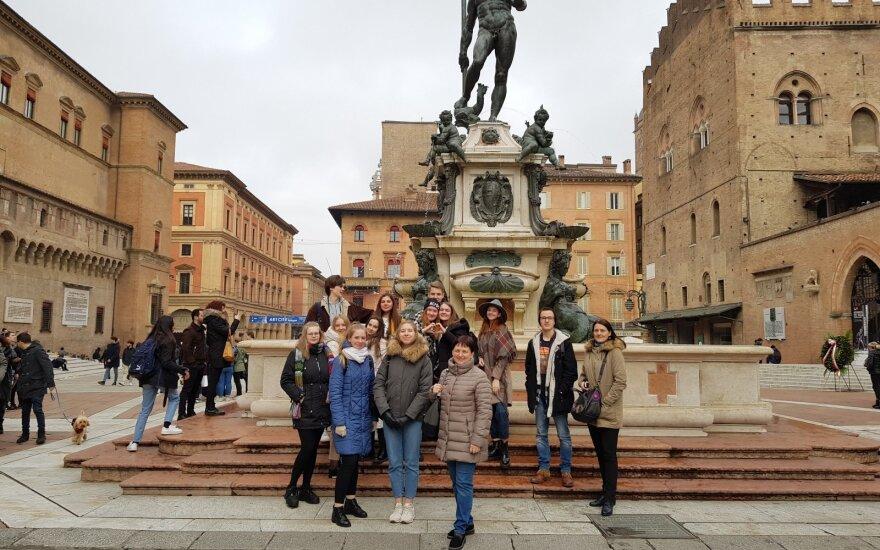 Mokinių kelionė į Italiją.