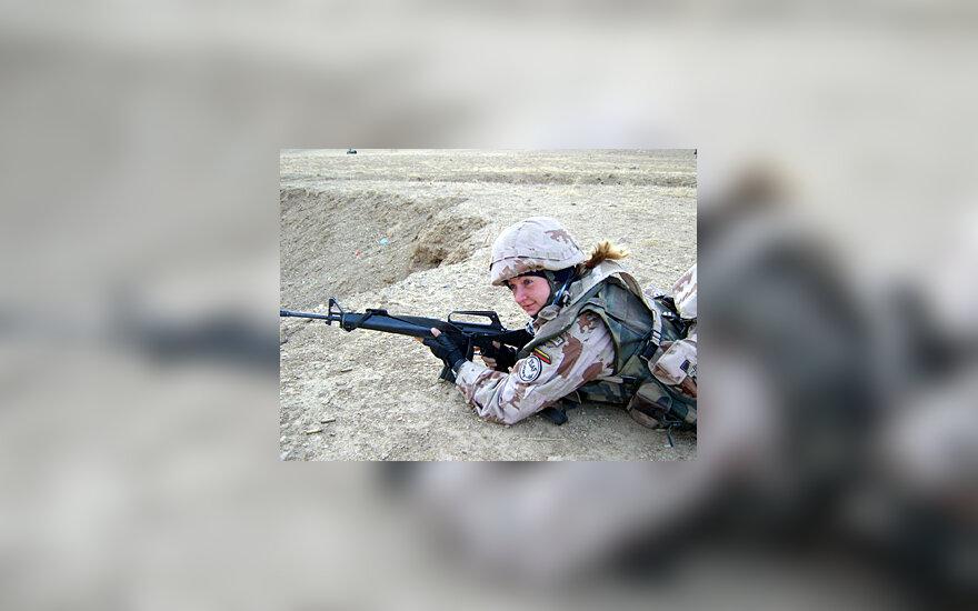 Lietuvos kariūnė Afganistane Kontrimavičiūtė