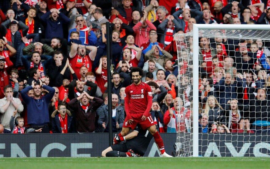 """Anglijoje – šešta iš eilės nesustabdomo """"Liverpool"""" pergalė"""