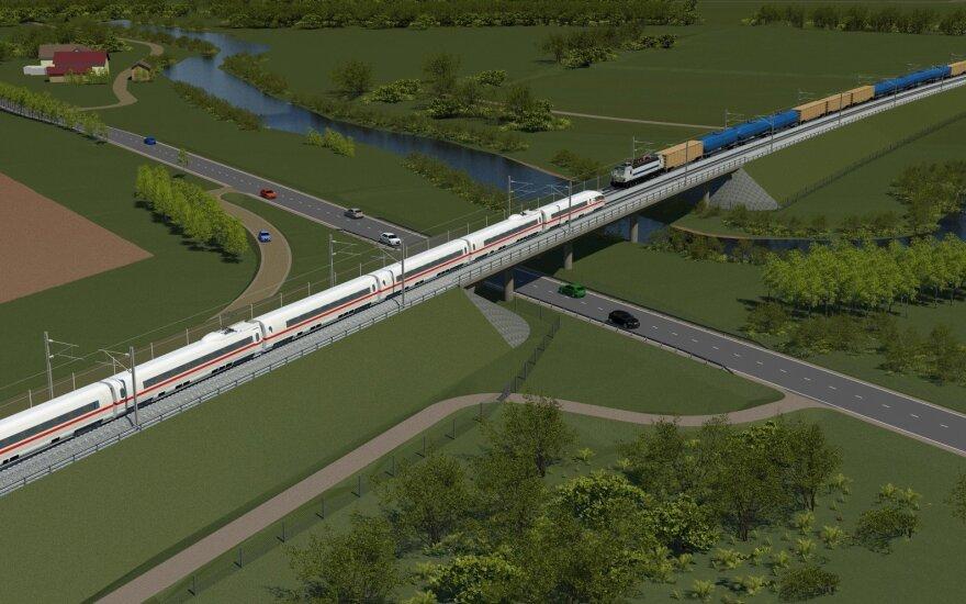 Efektyviausias būdas prijungti Vilnių - nutiesti naują geležinkelio liniją, pritaikytą iki 249 kilometrų per valandą traukinių greičiui.