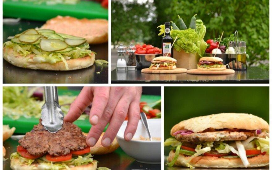Kaip namuose pasigaminti sveiką mėsainį