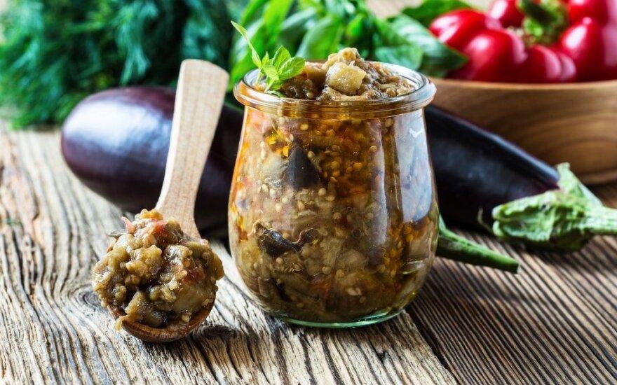 Totoriškas konservuotų baklažanų receptas
