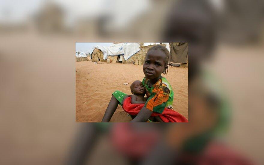 Mergaitė Sudane
