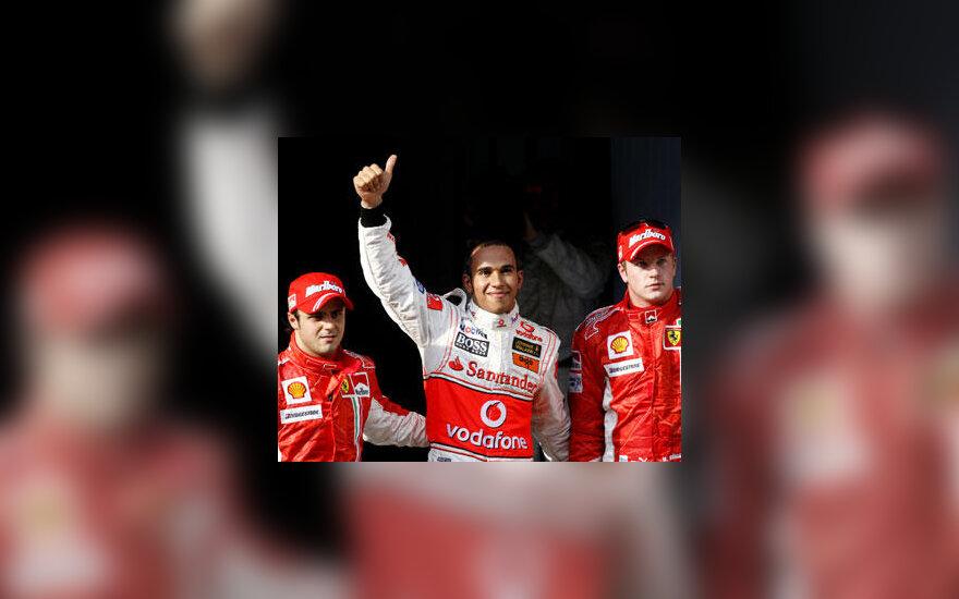 Felipe Massa, Lewis Hamilton ir Kimi Raikkonen