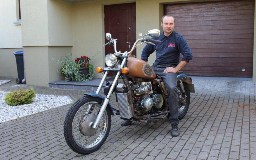 Dmitrijus Lopatinas sukonstravo turbodyzelinį motociklą