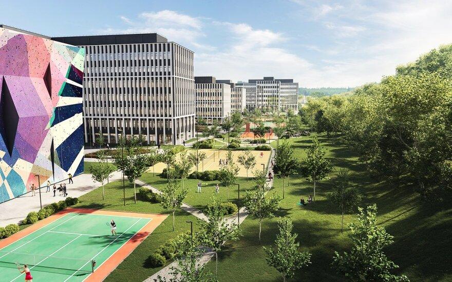 """""""Business Garden Vilnius"""" žaliosios erdvės bus didžiausios tarp verslo centrų Lietuvoje"""