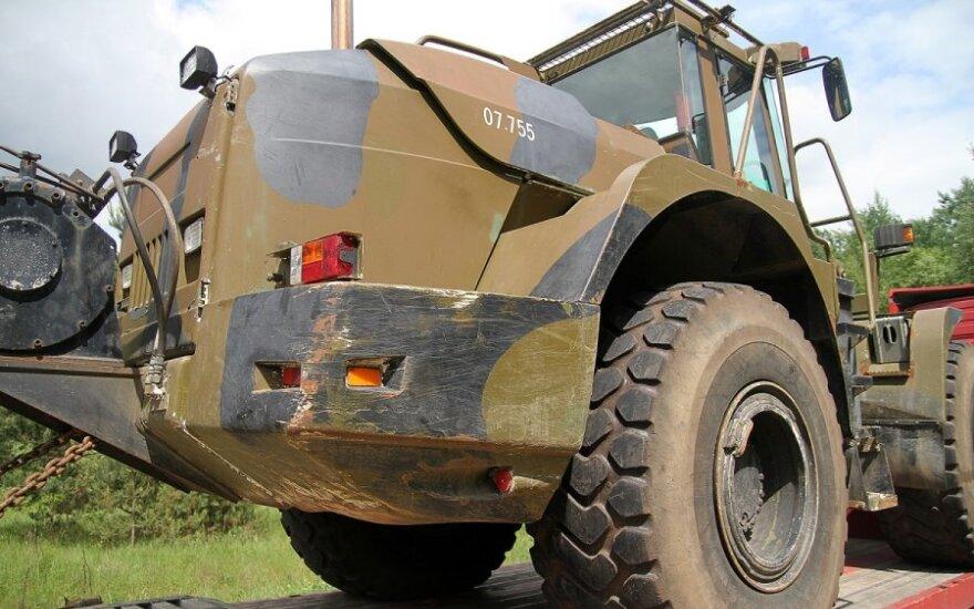 NATO karinė technika atvyko į Ruklą