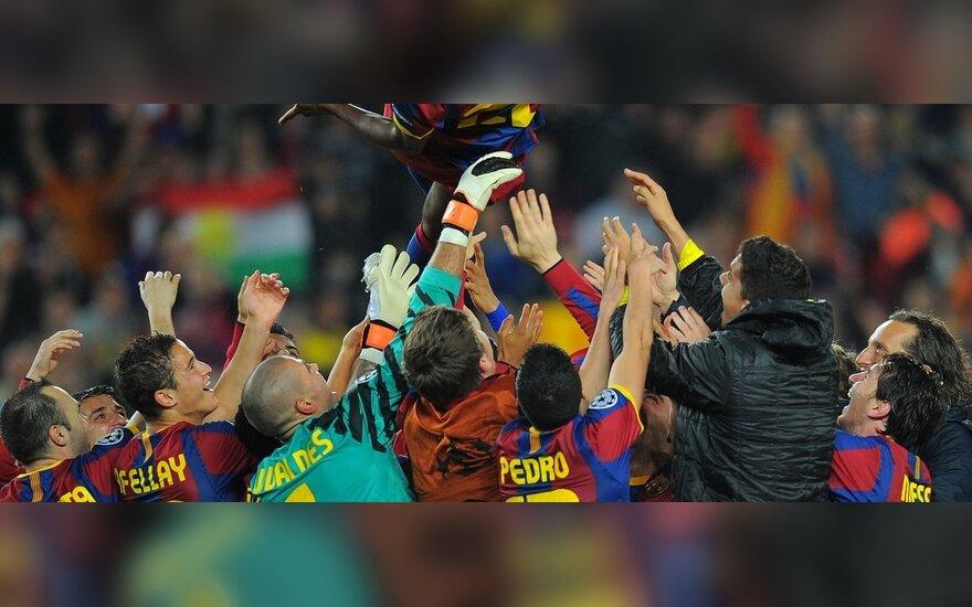 """Iškopusi į finalą """"Barcelona"""" sveikino sugrįžusį E.Abidalį"""