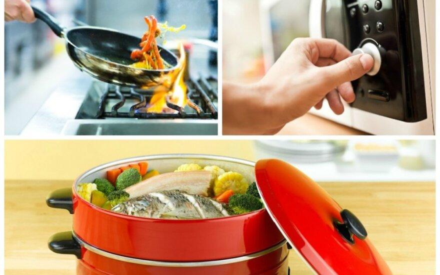 Kaip geriausia šildyti maistą?