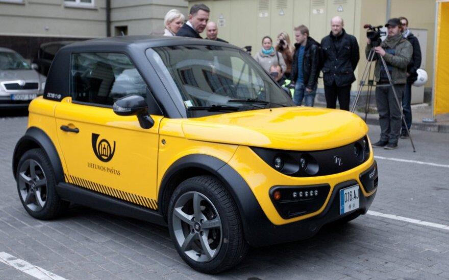 Lietuvos pašto Tazzari Zero elektromobilis