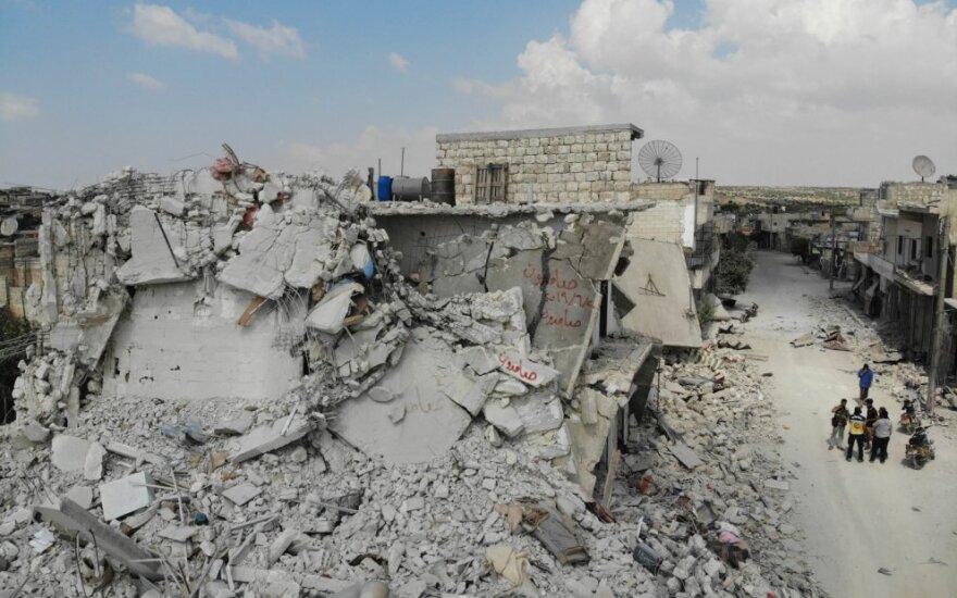 Sirijoje per džihadistų atakas raketomis žuvo 12 civilių