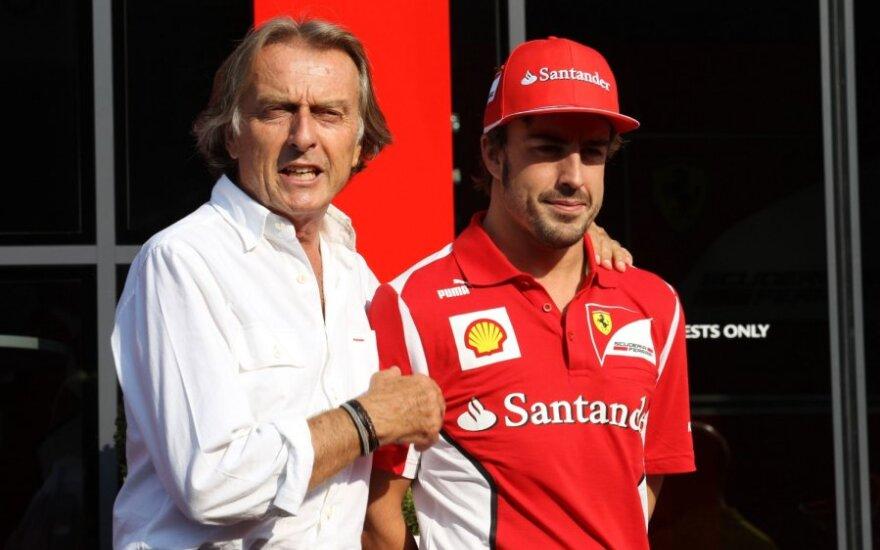 Luca di Montezemolo ir Fernando Alonso
