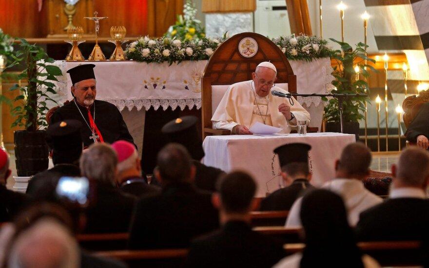 Popiežius Pranciškus paragino siekti taikos Artimuosiuose Rytuose
