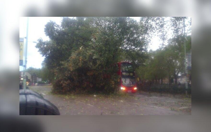 Galinga audra Britanijoje lietuvių akimis: nusiaubti namai ir automobilių spūstys