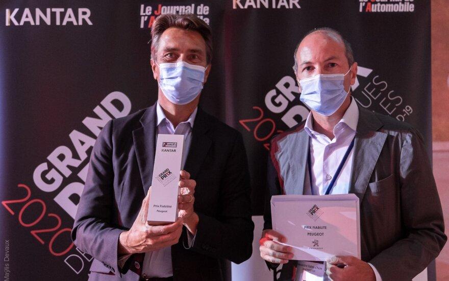 """""""Peugeot"""" Prancūzijoje įvertintas apdovanojimu už patikimumą"""