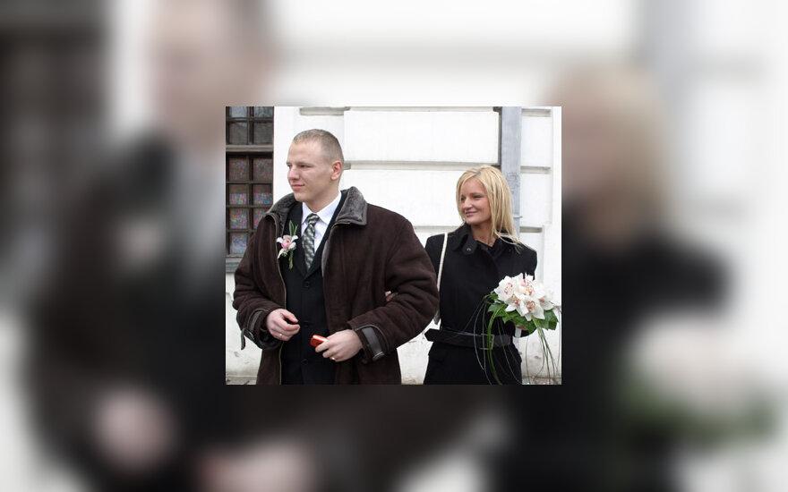 Živilė Daktaraitė su vyru