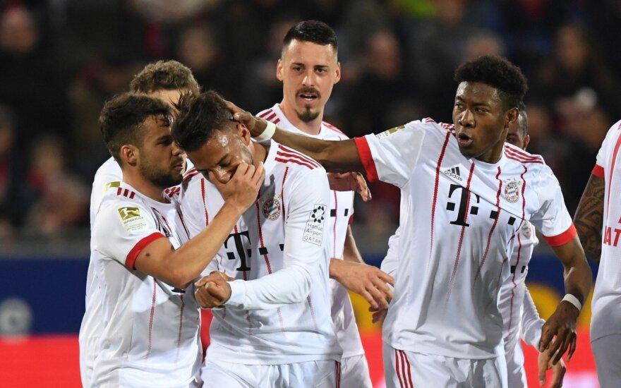 """Miuncheno """"Bayern"""" džiaugiasi prancūzo Corentino Tolisso įvarčiu"""