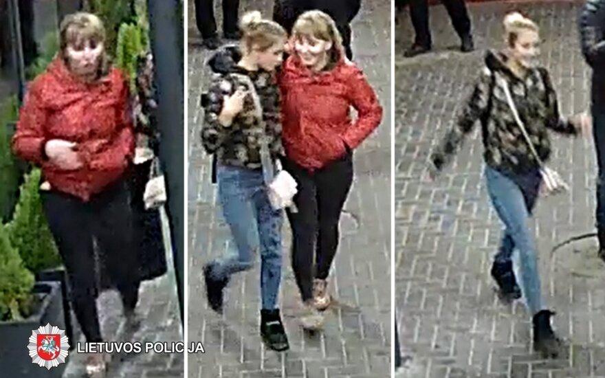 Policija prašo atpažinti agresyvias merginas