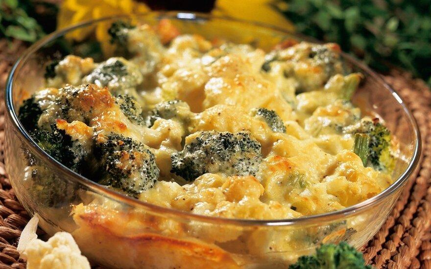 Žiedinių kopūstų ir brokolių apkepas