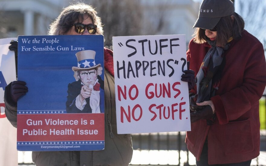 Pro-gun control protest in the US