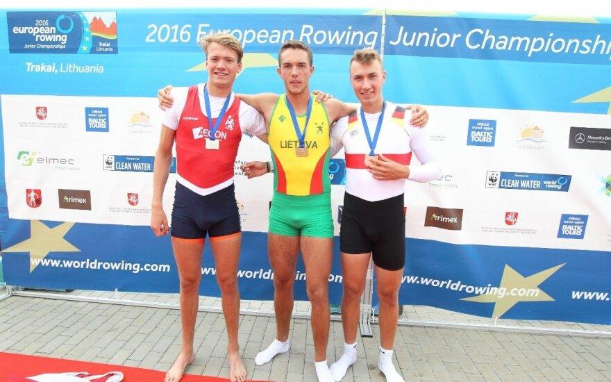 A. Kelmelis – Europos jaunių irklavimo čempionas