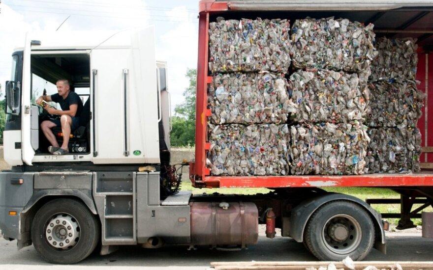 Perdirbimui vežamos atliekos