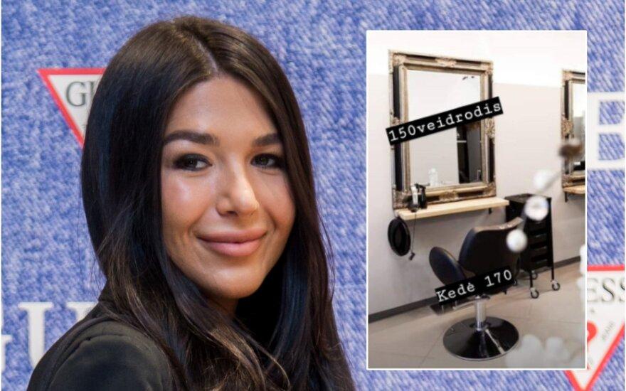 Sofio Gelašvili uždaro savo grožio saloną / Foto: DELFI, Instagram
