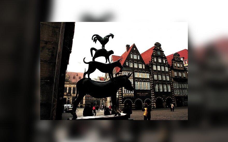 Miesto simbolis – Brėmeno muzikantai, pildantys turistų norus.