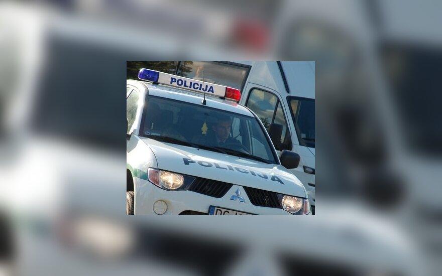 Panevėžyje į avariją pakliuvo policijos automobilis