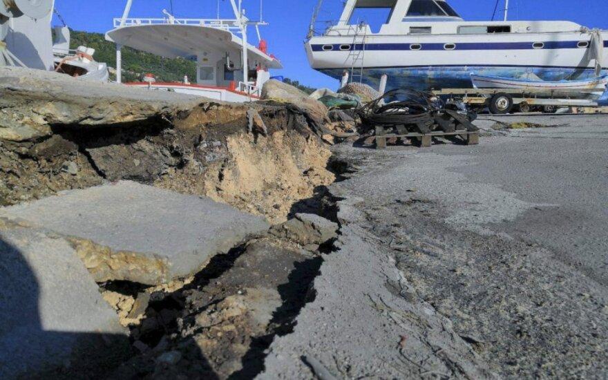 Graikijos Zakinto salą nuniokojo žemės drebėjimas