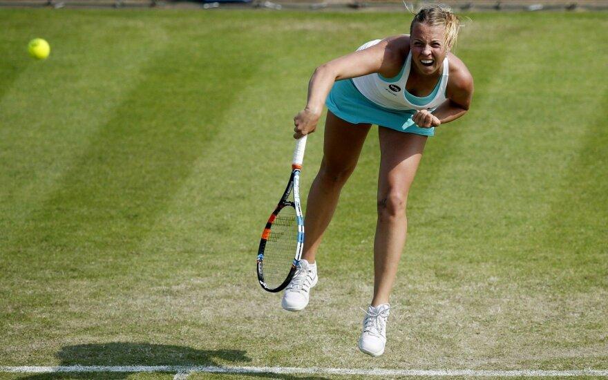 Estijos tenisininkė iškopė į aštuntfinalį