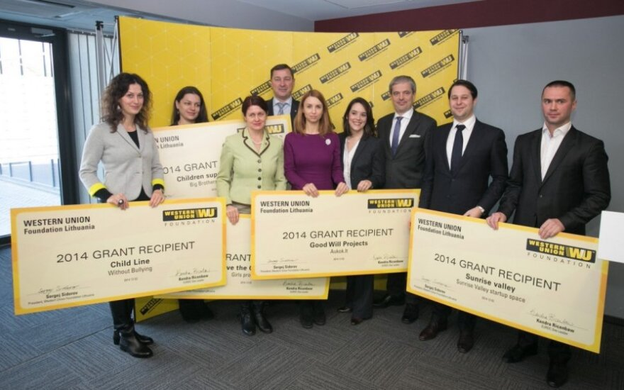Western Union Foundation Lithuania grant recipients